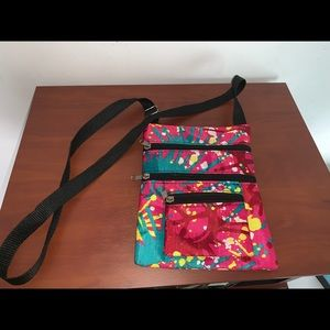 Handbags - Cute COLORFUL purse with long black strap!